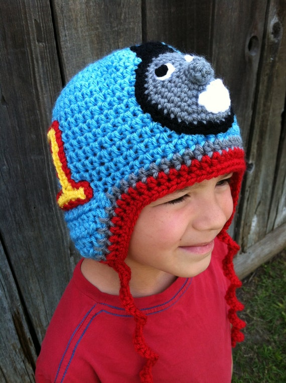 Free Crochet Hat Pattern For Thomas The Train : Crochet Thomas the Train Inspired Earflap by ...