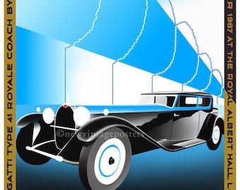 Art Deco Bugatti Royale poster giclee print