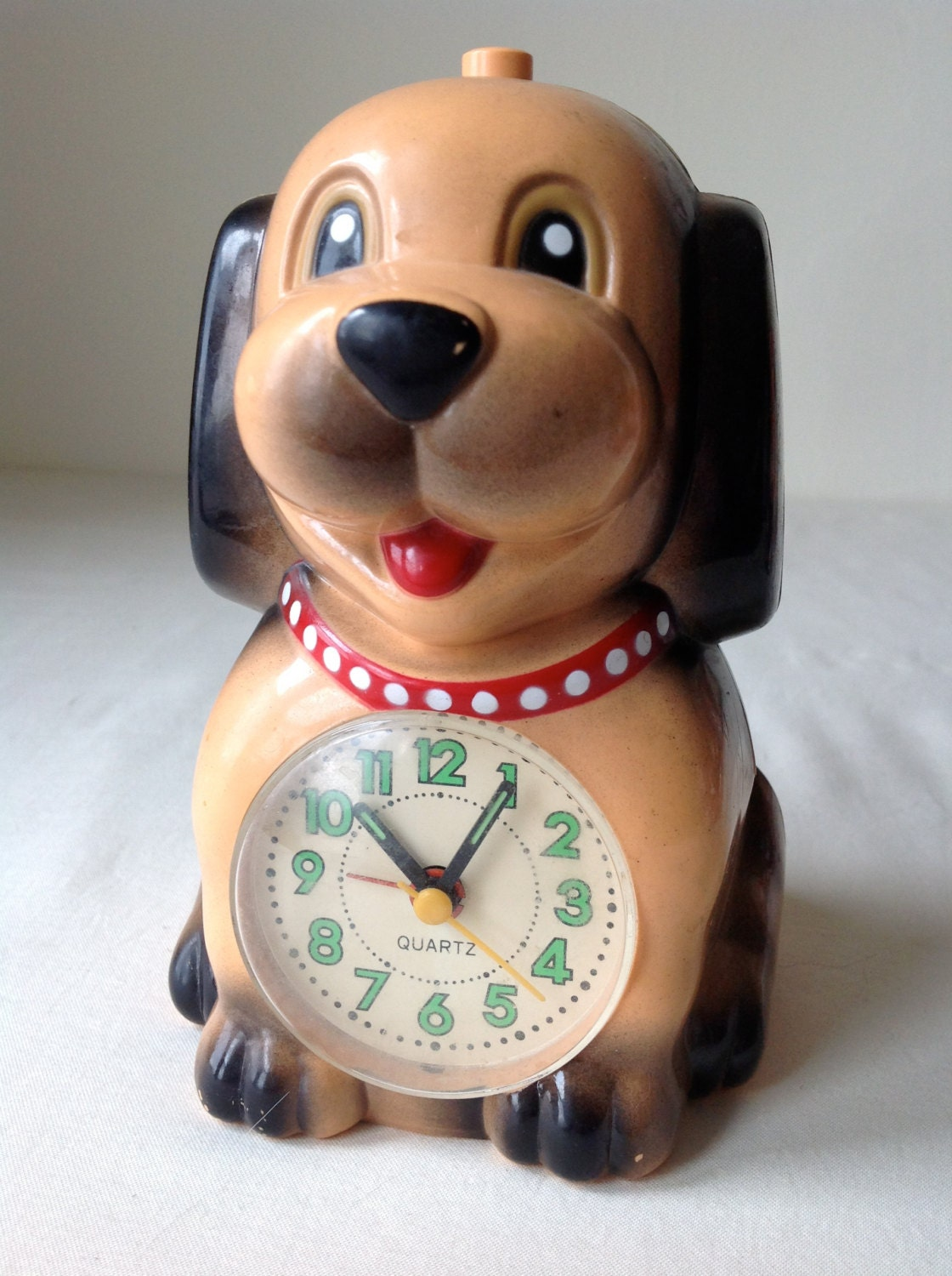 adorable vintage puppy dog alarm clock