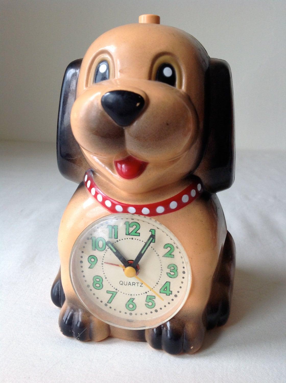 adorable vintage puppy dog alarm clock