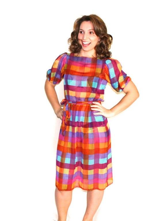 Plaid summer dress