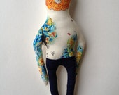 Vincent Van Gogh- Starry Night- Tattoo Sleeve- Plush Doll- art doll- made to order