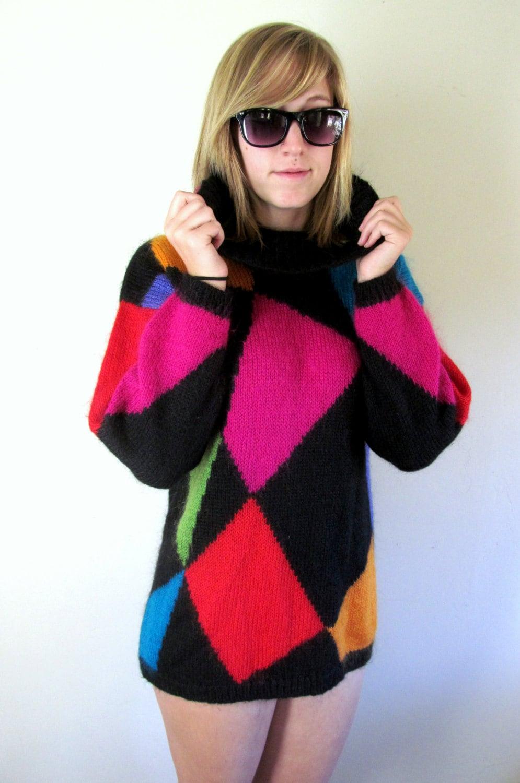 Vintage 80 S Sweater Dress 80 S Dress Micro Mini