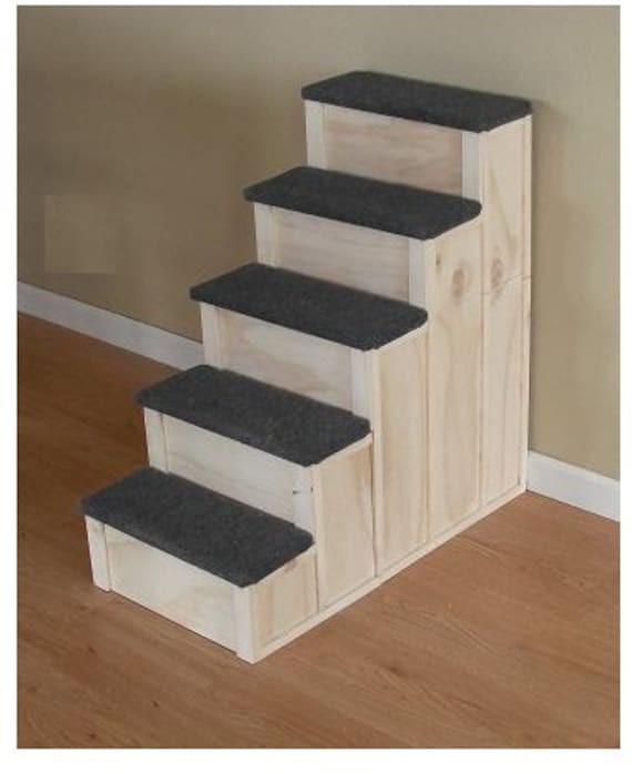 Items Similar To 30 Inch Tall 5 Step Pet Stairs Bed Step