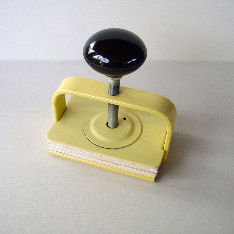 Vintage Small Book Press Bookbinding Miniature Book Press