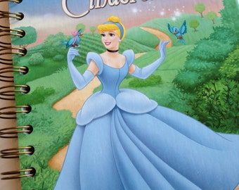 Cinderella Little Golden Book Recycled Journal Notebook
