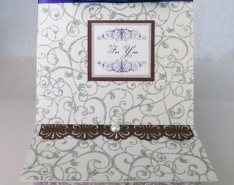 Silver and purple Swirl Box for Bridal or Elegant Gift
