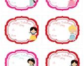 Disney Princess or Prince Birthday Thank you card or Invite - Printable DIY File - 1 Design