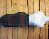 Vintage Wool Plaid pencil skirt with pockets