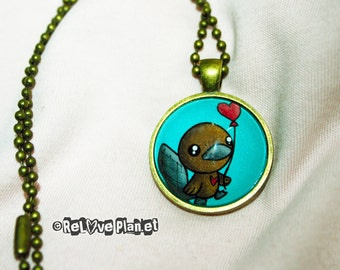 "Cute PLATYPUS 1"" Pendant Necklace - or 2 for 20 - Positive Kawaii Cute - ReLove Plan.et"