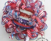 4th of July Wreath, Uncle Sam Wreath, God Bless America Wreath