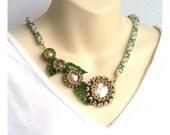 Beaded Flower Necklace, Bead Art Jewelry, Statement Beadwork Necklace, Bead Crochet Rope Jewelry, Modern Romantic Necklace - Etsy UK Seller