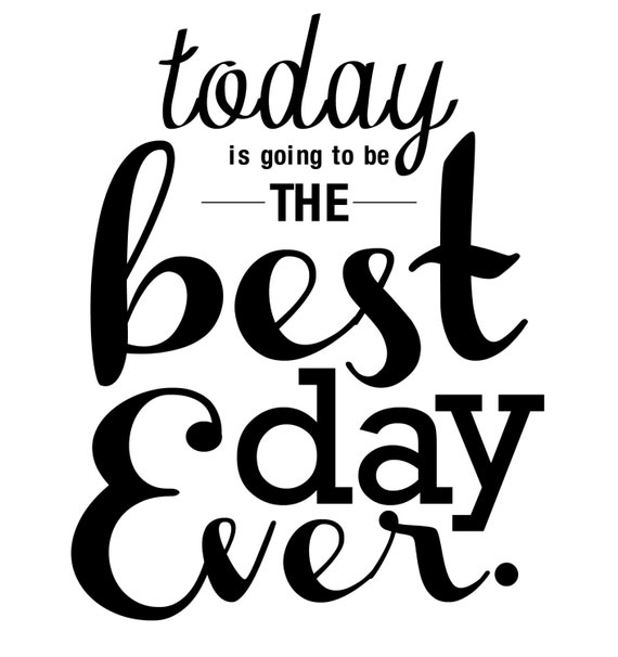 Best Time Of Day For Wedding: Items Similar To Best Day Ever PDF (Today) On Etsy