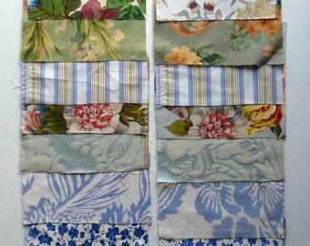 Set of 18 patchwork quilting squares