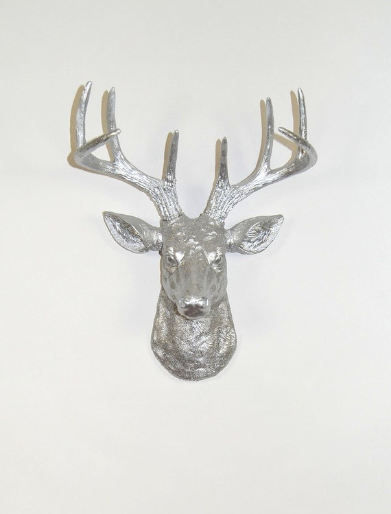 Unavailable listing on etsy - Silver stag head wall mount ...