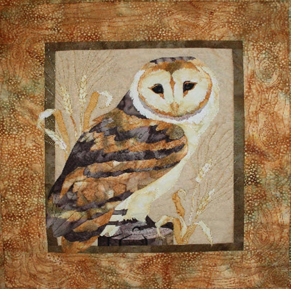 Mellow Meadow Owl Quilt Pattern by Toni Whitney Design, Barn Owl,  DIY Quilting Sewing