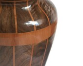 Storm Front Segmented Wood Vase Featuring Oregon Black Walnut, Pear Wood & Wenge FB6113 OOAK Ready To Ship