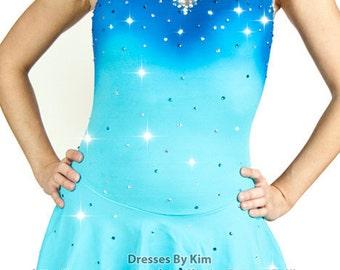"Custom Figure Skating Dress - ""Mermaid"" / Baton Twirling Dress / Dance Dress"