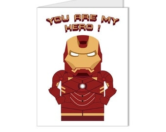 Get 10% OFF - You Are My Hero - Superhero Collection Iron Man Custom Blank Card - Special 2016 SALE