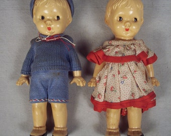 Celluloid Doll Dolls Vintage Plastic Irwin Girl Boy Original