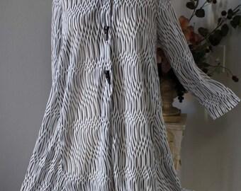 New Plus size Shirt, Lagenlook, High Fashion Fabric, long Classic Shirt Blouse