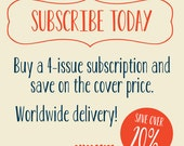 Subscription: Issues 5 - 8 - PRE-ORDER
