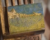 Tolkien ACEO - The Lonely Mountain, Erebor 1