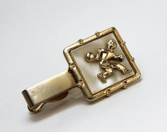 Vintage Mother of Pearl Bowling Tie Clip