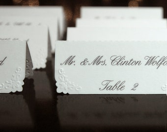 Escort Tags / Place Cards (50)- Personalized & Custom Placecard, Perfect for Weddings or Special Occasions