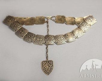 """20% DISCOUNT! Metal Ren Belt """"Sansa""""; Belt; Woman's belt; Medieval Belt"""