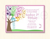 Tree House Birthday - Print Ready Invitation - 7 x 5 or 6 x 4 inch Digital File - JPG - ID 7000-01