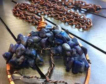 Tree of Life/Tree of Knowledge Lapis Lazuli Antique Copper Pendant
