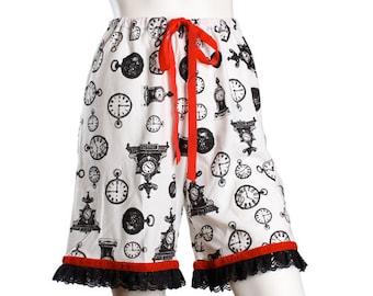 Clockwork Bloomers or Pajama Shorts - Steampunk