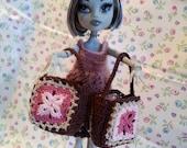 Crochet Bag/Purse for fashion doll (Blythe, Barbie, BJD, Monster High or any doll)