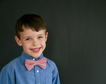 Bow Tie - Newborn, Infant, Toddler, Boy - Red Gingham