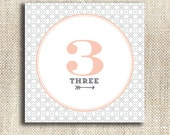 Modern Pattern / Printable 15 Table Numbers
