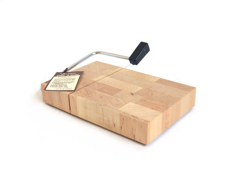 Vintage Cheese Slicer Cutting Board Chopping Block Chop And