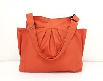 Handbags Canvas Bag Diaper bag Shoulder bag Hobo bag Tote bag Messenger bag Purse Everyday bag  Burnt Orange  Jolie