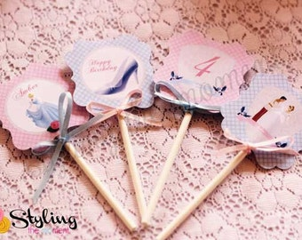 Cinderella Cupcake Toppers with FREE Wrappers
