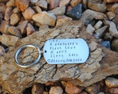 Hand Stamped Keychain for Dad