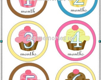 Sale~ Lil Cupcake Monthly Infant Stickers