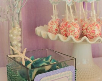 Mermaid Party Menu Cards