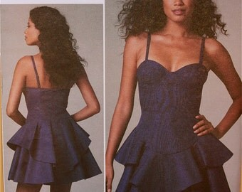 Party Dress by Rebecca Taylor Vogue American Designer Pattern 1227 Uncut  Sizes 4-6-8-10 or 12-14-16-18
