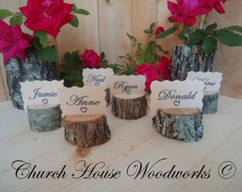 12 Rustic Place Card Holders Tree Wedding Decor
