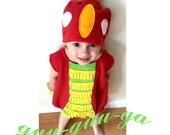 child  parrot animal jungle costume girl boy baby toddler