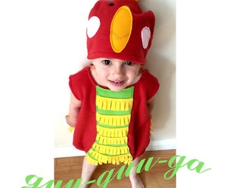 Parrot Animal Costume For Kids