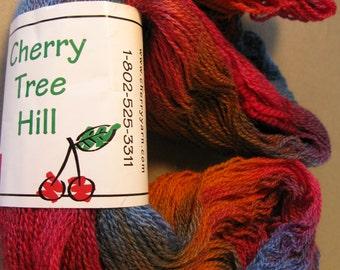 Merino Possum Silk yarn by Cherry Tree Hill in Champlain Sunset