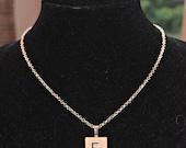 Scrabble Tile Initial Pendant Necklace