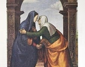 Albertinelli - The Visitation by Albertielli, Painting Masterpiece, 1939 Print