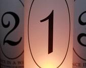 Table Numbers, Fairytale Wedding, Fairytale Table Numbers, Fairytale Luminaries, Fairytale wedding decor- Set of 10